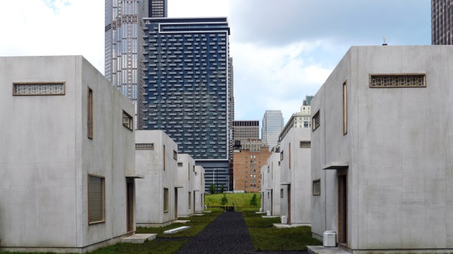 View of Abnegation Village from the street. Image courtesy of Summit Entertainment.