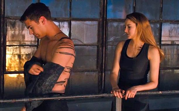 Four's body on display. Tris sees what makes him Divergent. Image courtesy of Summit Entertainment.