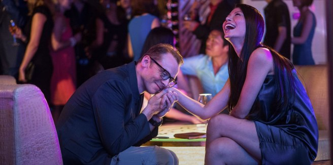 Hector and Ying Li get up close and personal. Photo courtesy of Relativity Media.