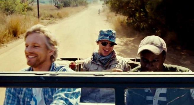 You wouldn't know it from this photo, but Michael, Hector, and Marcel are cruising in a war-torn