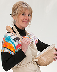 Nancy, the Best British Amateur Baker, from The Great British Baking Show. Image courtesy of PBS.