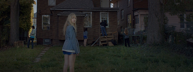 In trying to locate Hugh and learn more of his secrets, Jay and her friends snoop around an abandoned house that he'd given her as his address. Image courtesy of RADiUS-TWC.