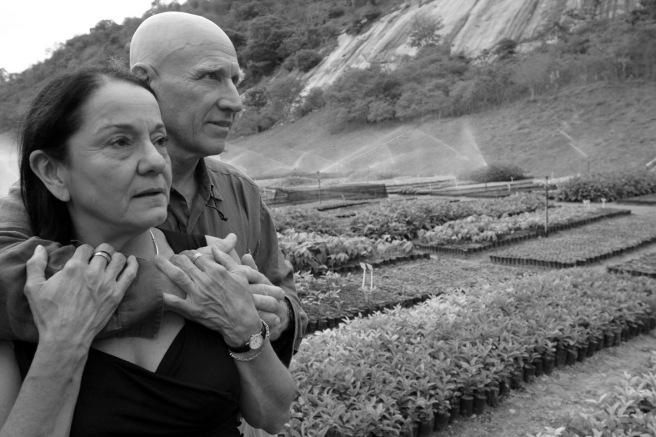 Lélia and Sebastião Salgado at the Instituto Terra.