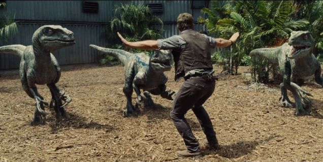 Those are some oversized raptors, for sure. Image courtesy of Universal Pictures.